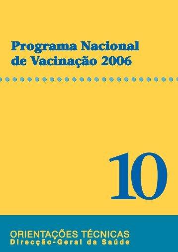 Programa Nacional de Vacinação 2006 - Direcção-Geral da Saúde