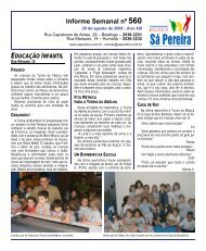 educação infantil - Escola Sá Pereira