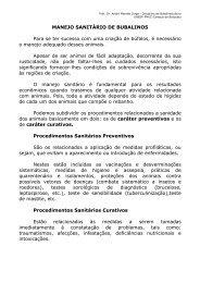 MANEJO SANITÁRIO DE BUBALINOS - Unesp