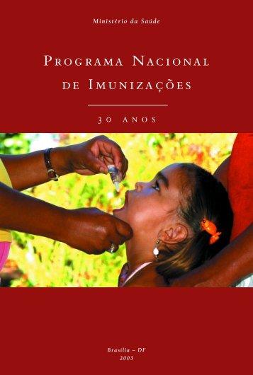 Programa Nacional de Imunizações (PNI) - Ministério da Saúde