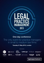 The only event for practice managers in small to medium law firms