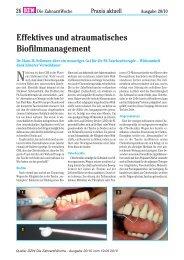 Effektives und atraumatisches Biofilmmanagement - Zantomed