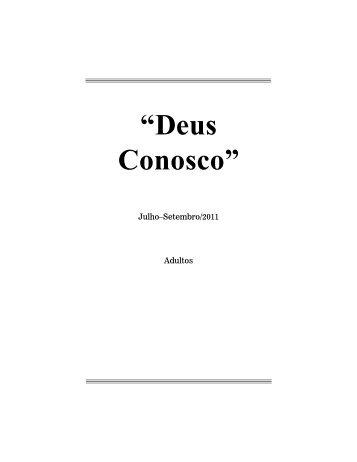"""""""Deus Conosco"""" - Adventistas do 7º Dia - Movimento de Reforma"""