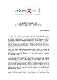 AUGUSTO DE CAMPOS: UM POETA DO HOMEM URBANO?(!)