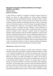 Recepção da Arquitectura Moderna Brasileira em Portugal ...