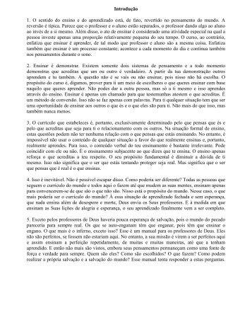 Manual de Professores - A Course In Miracles (ACIM)