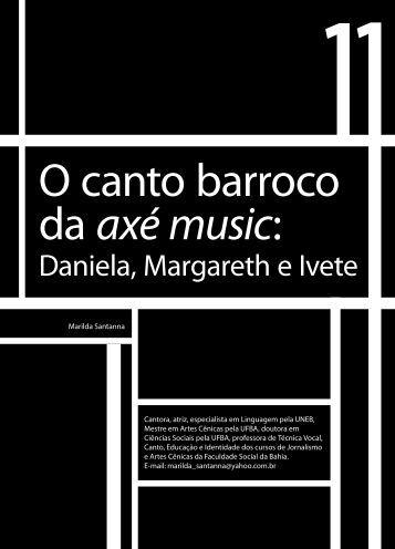 O canto barroco da axé music: - Faculdade Social