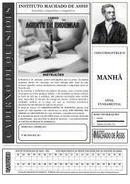 MANHÃ - Instituto Machado de Assis