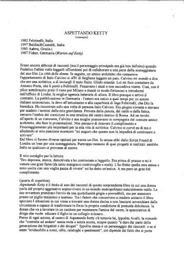 ASPETTANDO KETTY - Ippolita Avalli