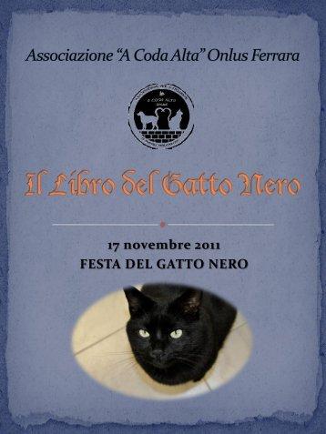 """Associazione """"A Coda Alta"""" Onlus Ferrara Il libro del gatto nero"""
