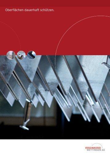 Firmenbroschüre Verzinkerei Wettingen AG (DE)