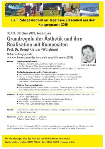 Grundregeln der Ästhetik und ihre Realisation mit Kompositen - ZaT ...