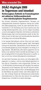 TOP -Fortbildung DGÄZ-Highlight 2009 - ZaT Fortbildungs-GmbH - Page 4
