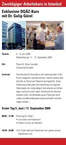 TOP -Fortbildung DGÄZ-Highlight 2009 - ZaT Fortbildungs-GmbH - Page 6
