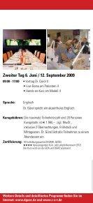 TOP -Fortbildung DGÄZ-Highlight 2009 - ZaT Fortbildungs-GmbH - Page 7