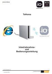 Anleitung-Tahoma Homecontrol - ZASTRAU GmbH
