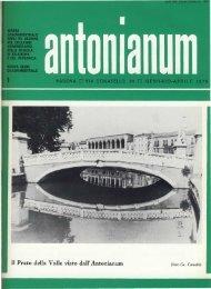 Gennaio-Aprile - Ex-Alunni dell'Antonianum
