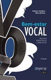 Bem-estar vocal – uma nova perspectiva de cuidar da voz - sinpro-sp