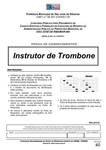 Instrutor de Trombone - Fundação Sousândrade