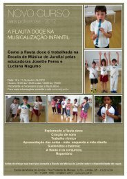 Flyer Musicalização 2012 - EMJ