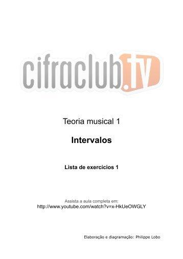 Intervalos Lista de exercícios 1 - Cifra Club