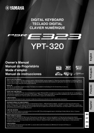 PSR-E323/YPT-320 Owner's Manual - Yamaha