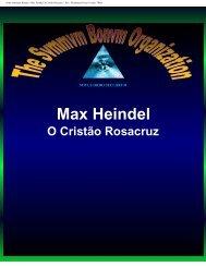 Max Heindel, o Cristão Rosacruz - Ordo Svmmvm Bonvm