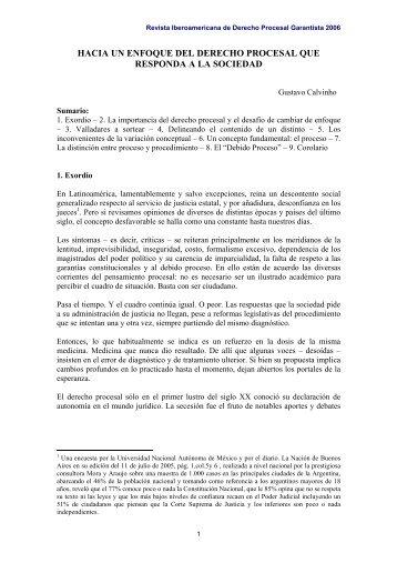 hacia un enfoque del derecho procesal que responda a ... - EGACAL