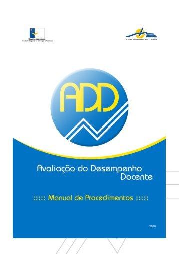 Avaliação do Desempenho Docente - Manual de Procedimentos