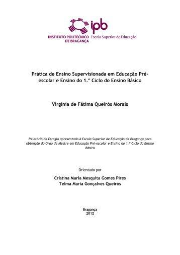 Prática de Ensino Supervisionada em Educação Pré- escolar e ...
