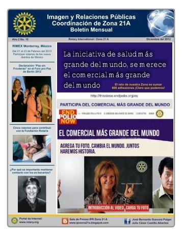 N° 15 Diciembre del 2012 - Distrito 4200