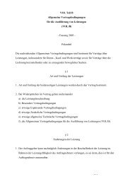 Allgemeine Vertragsbedingungen für die Ausführung von Leistungen