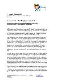 Presseinformation - Zahnärztlicher Bezirksverband Schwaben