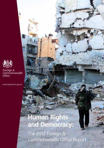 Human Rights and Democracy: