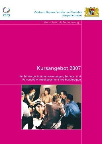 Kursangebot 2007 - Zentrum Bayern Familie und Soziales - Bayern