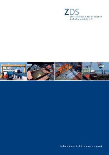 Jahresbericht 2005/2006 - Zentralverband der deutschen ...