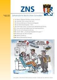 ZNS Ausgabe 2/2013 ist online - Zahnärztlicher Bezirksverband ...