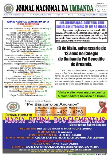 Jornal de Umbanda Sagrada - Rubens Saraceni
