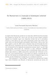Os Namarrais e a reacção à instalação colonial - IICT