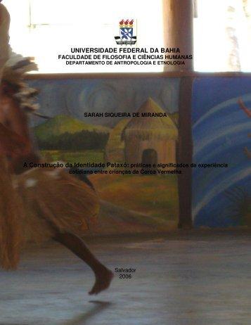 A Construção da Identidade Pataxó - Pineb - Universidade Federal ...