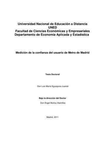 Universidad Nacional de Educación a Distancia ... - e-Spacio - UNED