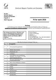 Antragsformular - Zentrum Bayern Familie und Soziales - Bayern