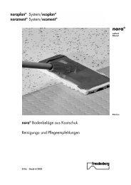 nora® Bodenbeläge aus Kautschuk - zebo Fußbodenbau GmbH