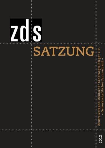 ZDS Satzung - Zentralverband Deutscher Schornsteinfeger eV