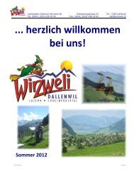 Gruppenangebote Sommer 2012 - Wirzweli