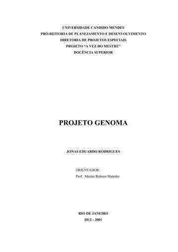 PROJETO GENOMA - AVM Faculdade Integrada