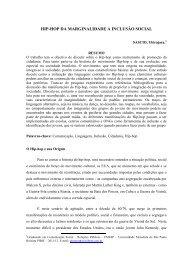 HIP-HOP DA MARGINALIDADE A INCLUSÃO SOCIAL - Unesp
