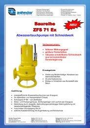 Flyer ZFS 71 Ex - Zehnder Pumpen GmbH