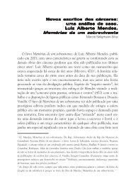 Novos escritos dos cárceres - Grupo de Estudos em Literatura ...
