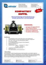 Flyer Kompaktboy Doppel - Zehnder Pumpen GmbH